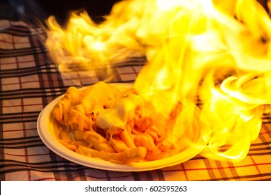 French fries fire