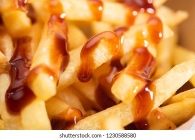 French fries with ketchup i