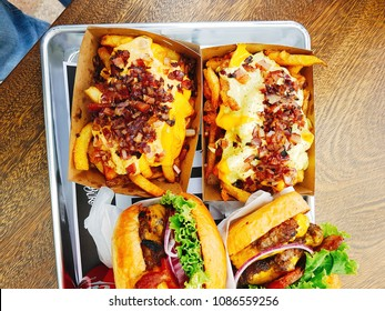 French fries with melted cheese and bacon on par with some burgers.