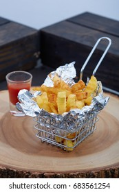 french fries on basket