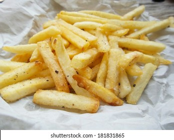 French fries on the paper