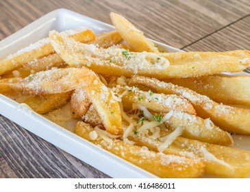 french fries with Parmesan cheese