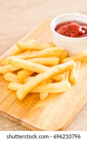 french fries with tomato sauce - unhealthy food