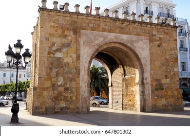 the french gate, entry to the old town of tunis