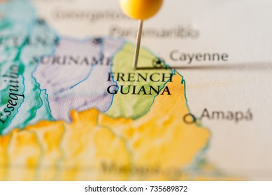 French Guiana Map Stock Photos, Images & Photography