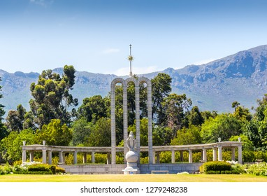 French Huguenot Monument in Franschhoek, Western Cape South Africa