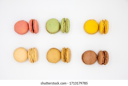 French macarons  isolated on white background