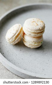 French macaroon cake. Top view, Holiday time concept