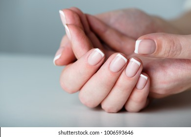 French manicured hand