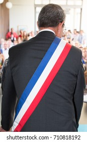 french mayor during a wedding ceremony