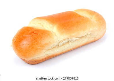 French milk bread on a white background
