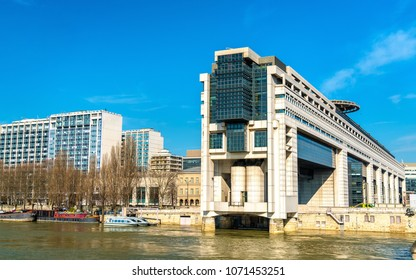 The French Ministry for the Economy and Finance in the Bercy district of Paris on a bank of the Seine