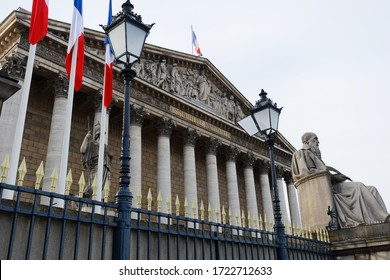 The French national Assembly-Bourbon palace the lower house of the parliament , Paris, France.