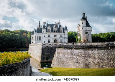 French old white castle