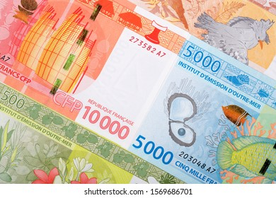 French Pacific Territories money - Franc a business background