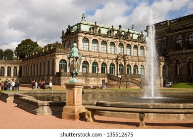The French pavilion in the Zwinger. The Zwinger is a palace in Dresden, eastern Germany.