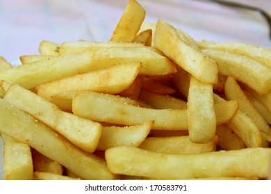 French potato fries closeup