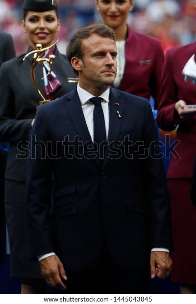 French President Emmanuel Macron After Fifa Stock Photo Edit Now 1445043845