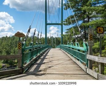 French River Suspension Bridge