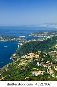 French Riviera, with Eze village and Cap Ferrat