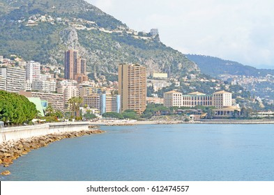 French Riviera on a bright summer day