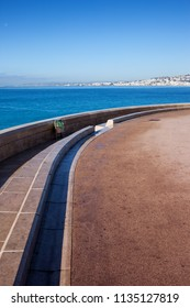French Riviera sea promenade in Nice city in France