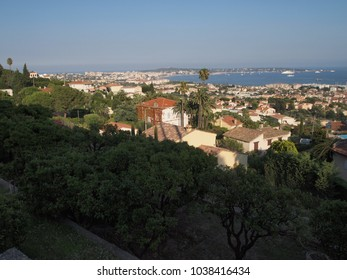 french riviera : view on the Antibes cape and on the Mediterranean sea