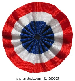 The French roundel cockade flag of France isolated over white background