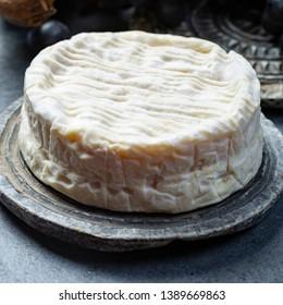 French soft Camembert cheese, original Camembert de Normandie, close up