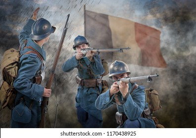 the French soldiers 1914 1918 attack, November 11th