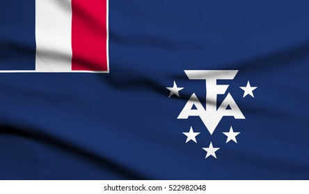 French southern and antarctic lands Flag Waving