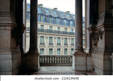 French style architecture viewed from balcony in Paris