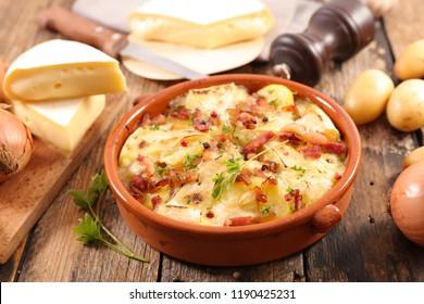 french tartiflette, potato, bacon and reblochon