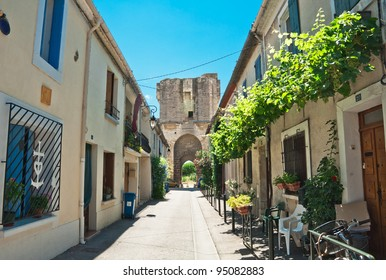 French village street in Provence