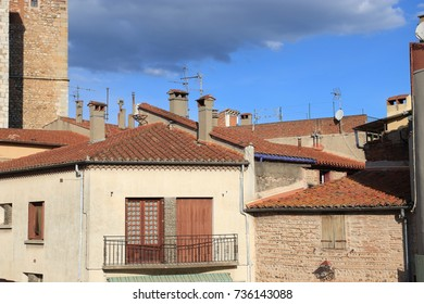 french village of Thuir in Pyrenees orientales, France