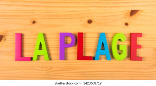French word la plage for beach