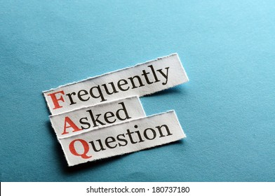 frequently asked question (FAQ) concept for website service on paper