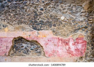 Fresco at the ancient city of Pompeii, Italy