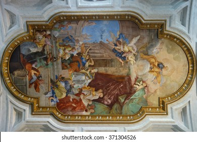 Fresco on Ceiling of Church of Saint Peter in Chains in Rome Italy
