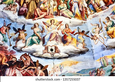 fresco painted by Giorgio Vasari in the dome of the cathedral of Florence, Italy