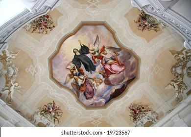 Fresco painting in the cloister Melk