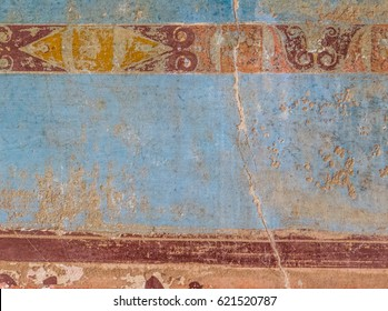 Frescoes in Pompeii, the ancient Roman city, destroyed in 79 BC by the eruption of Mount Vesuvius. UNESCO World Heritage Site.