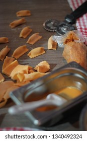 Fresh agnolotti pasta