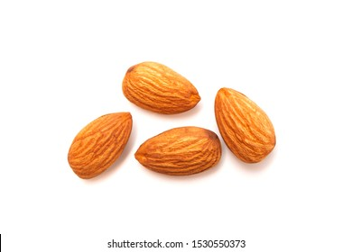 Fresh almond isolated on white background. Food and healthy concept