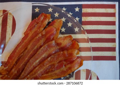 Fresh American Gourmet bacon and placemats for flag day and 4th of July Holiday