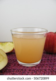 Fresh apple juice in a glass