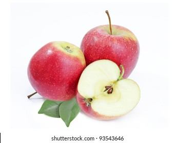 Fresh Apples. Isolated On A white background.