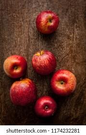 Fresh apples in natura
