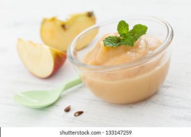 fresh applesauce in a bowl