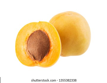 Fresh apricot isolated on white background.